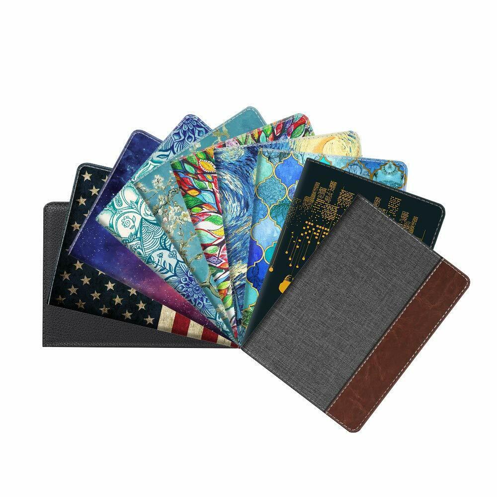 Leather RFID Blocking Passport Holder Travel Wallet Case Cover Securel... - s l1600