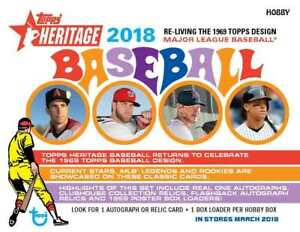 2018-Topps-Heritage-1-250-Complete-Your-Set-Pick-Card-Build-Lot-Stars-RCs-MLB