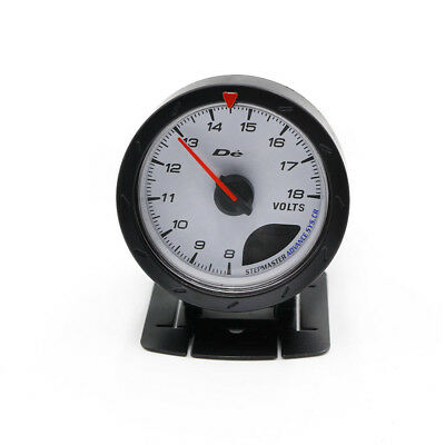 "2.5"" 60MM D*fi White Face Voltage Volt Gauge Pointer Display Universal Car Meter"