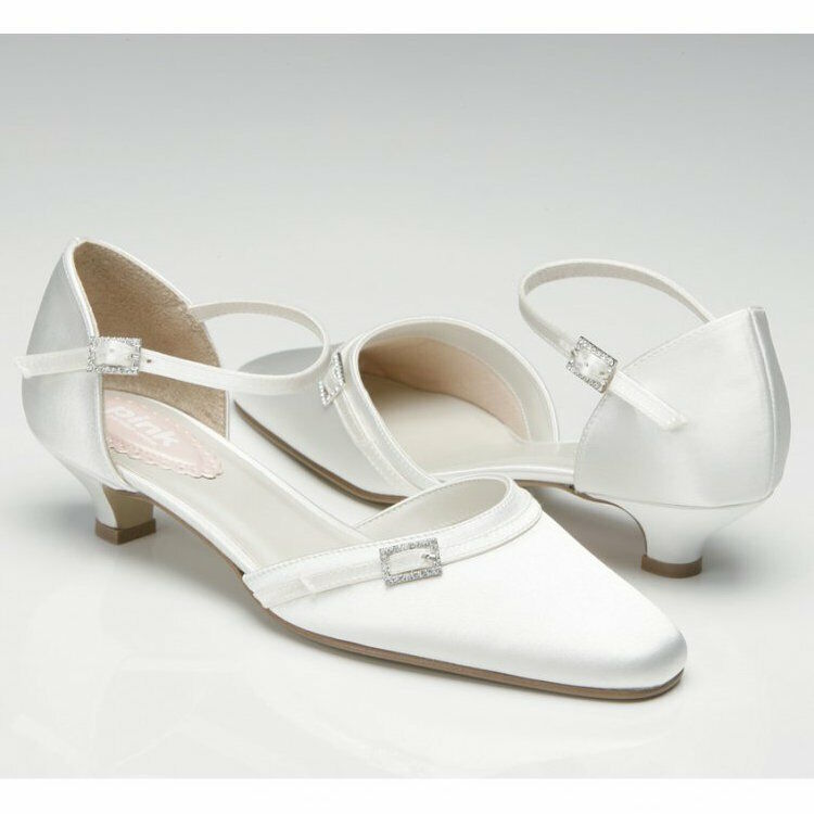 Paradox Pink FEATHER 50% OFF Ivory Satin Crystal Pointed Toe Bridal Shoes