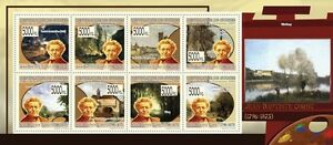 Precise Paintings Of Jean-baptiste Corot Painting M/s Guinea 2009 Mi 6903-10 Mnh Gu0993a Topical Stamps