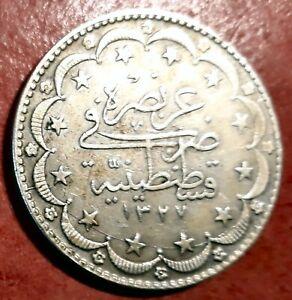 Turquia-20-Kurush-1327-cristo-1916-plata-Bella
