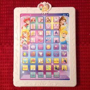 Details about Disney Princess Royal Tablet Cinderella Song Belle Ariel  Sound Effects Buttons