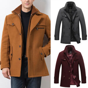 edc17cec2389a Image is loading Mens-Winter-Warm-Casual-Lapel-Thicken-Double-Collar-