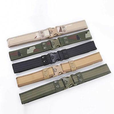 Canvas Outdoor Waistband bucklebelt Army Tactical Military Buckle Belt 5 Color