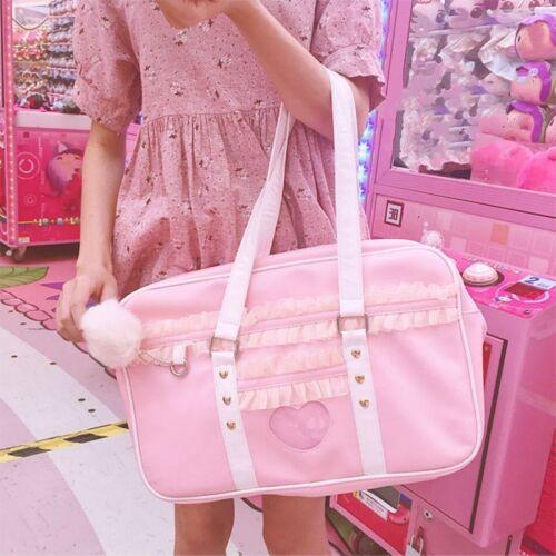 Damen Mädchen Süß Lolita Handtasche Schultasche Schulter Pu Japanisch Kawaii