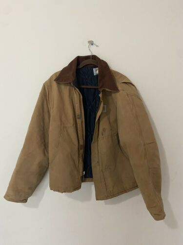 Vintage CARHARTT Quilted Lined Sun Faded Jacket 46