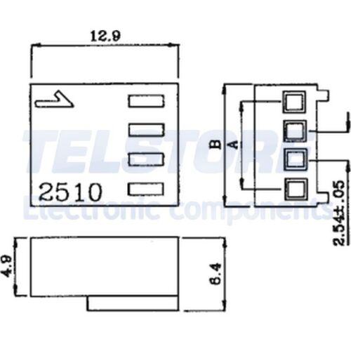 20pcs  Spina conduttore-piastra femmina PIN 6 senza contatti 2,54mm TELSTORE