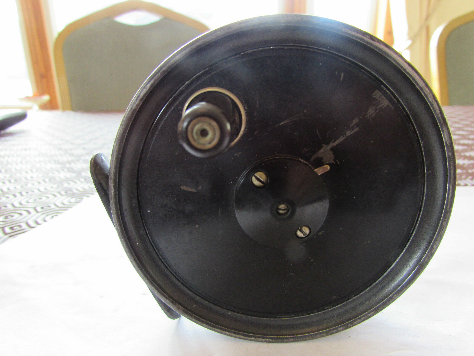 Good vintage JW youngs beaudex trout fly fishing reel 3.5  narrow drum