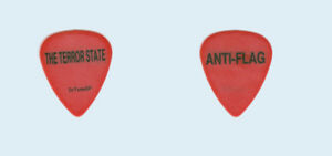 Anti-Flag-1998-tour-used-Black-on-Red-The-Terror-State-punk-rock-Guitar-Pick-Pic