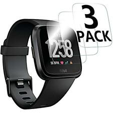 3-pack for Fitbit Versa Tempered Glass Screen Protector Saver Shield Cover