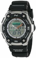 Casio AQW101-1A Men's Ana-Dgi Thermometer Fishing Data Moon Phase Sports Watch