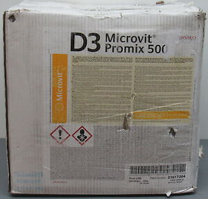Details about NEW 25 kg Microvit D3 Promix 500 Vitamin D Supplement Premix  Livestock Health ++