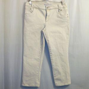 Chico-039-s-Platinum-Denim-Capri-Jeans-Women-039-s-Size-1-Beige