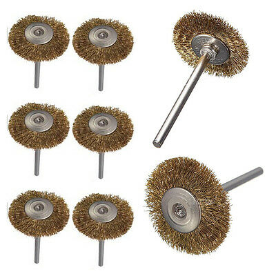 Smaller Wire Brass Brush Brushes Wheel Dremel Accessories for Rotary Tools