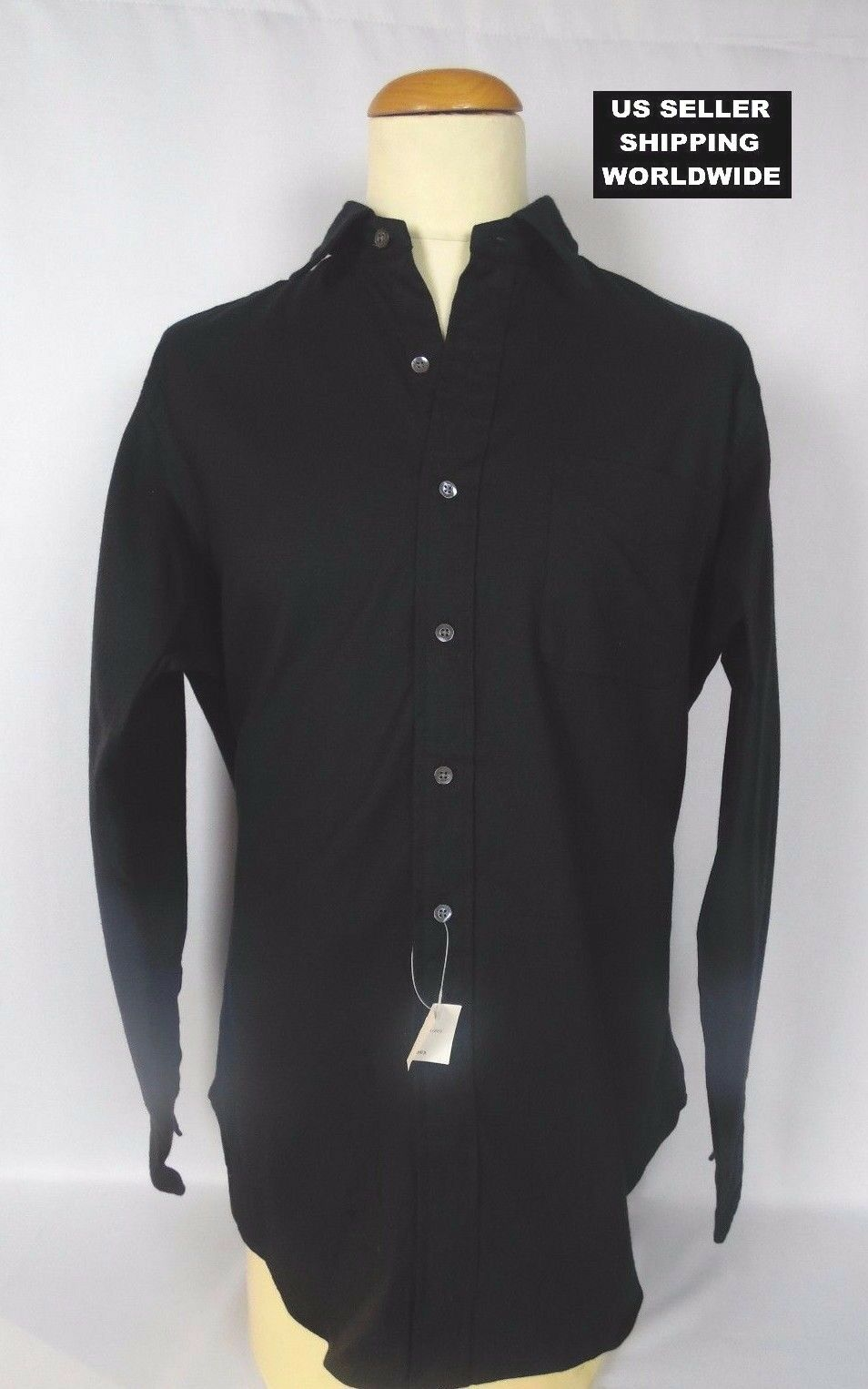 225.00 Polo by RALPH LAUREN Large Black Cashmere Blend Dress Shirt MakeAnOffer