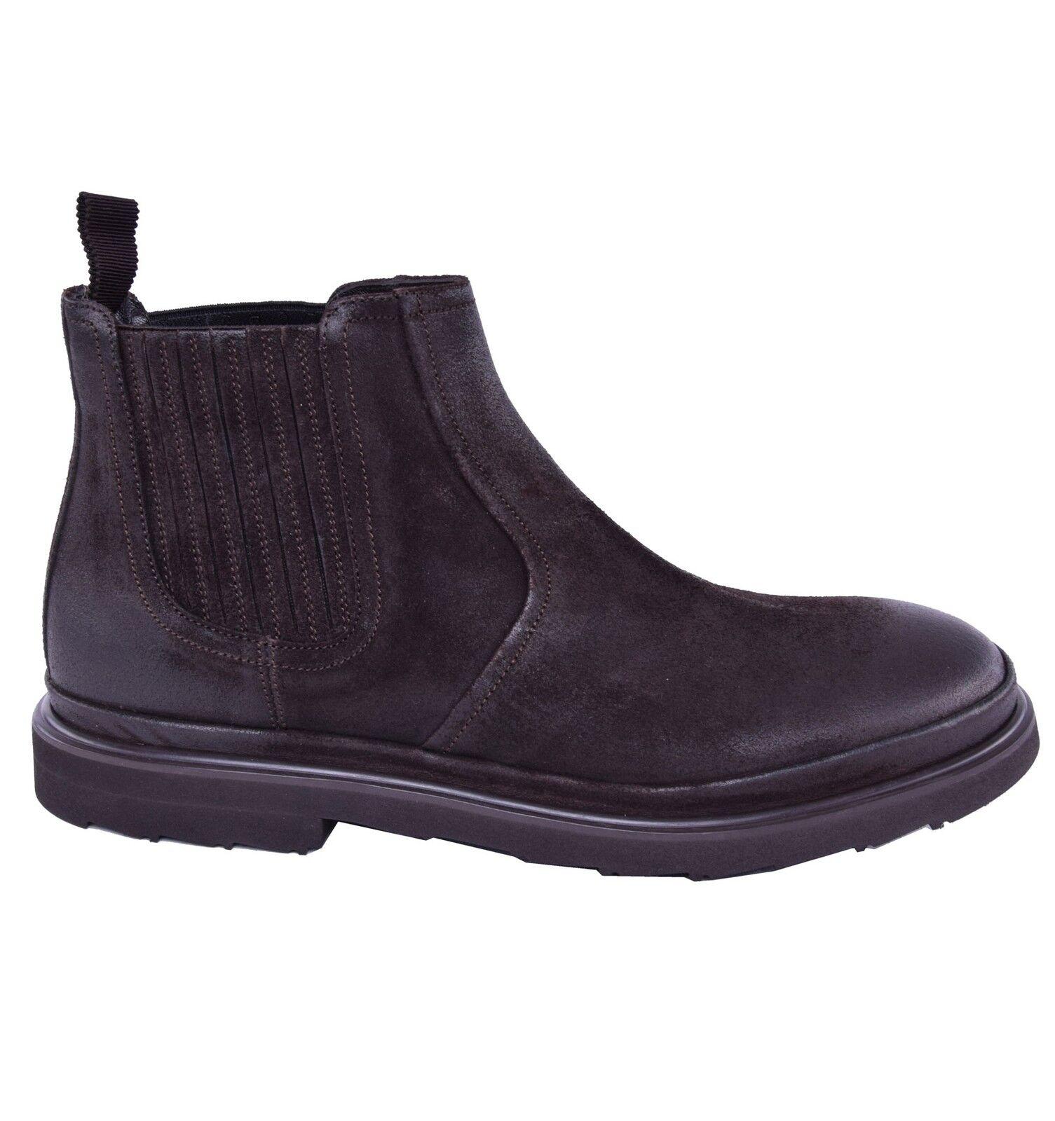 DOLCE & GABBANA Leichte Wildleder Stiefeletten Schuhe Braun Suede Boots 03843