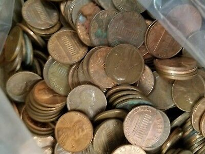 GUARANTEED UNSEARCHED 10 LB Lot Copper Lincoln Cent Pennies 1959-1982 INVESTMENT