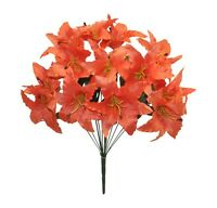 14 Tiger Lily Coral Reef Silk Wedding Flowers Bridal Centerpieces Decoration