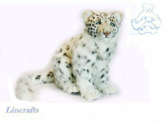 Hansa Sitting Snow Leopard 4355 Soft Toy Sold by Lincrafts Established 1993