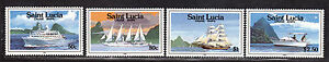 $St. Lucia Sc#976-979 M/NH, complete set, Cruise Ships, Cv. $16.75