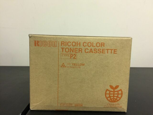 Genuine OEM Ricoh Trype P2 888236 YELLOW Toner Cartridge Aficio 2228C 2232C NEW