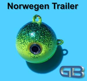Norwegen-Trailer-10g-40g-50g-75g-85g-110g-140g-Sea-Trailer-Kugelblei-mit-Ose