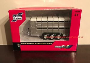 40710A1 BRITAINS FARM 1/32 SCALE IFOR WILLIAMS TA510T TRI-AXLE CATTLE TRAILER