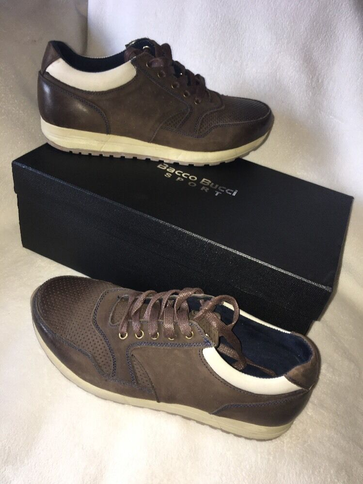 Bacco Bucci Leather Sport Linus Sneaker Oxfords Mens shoes SZ 9 NEW