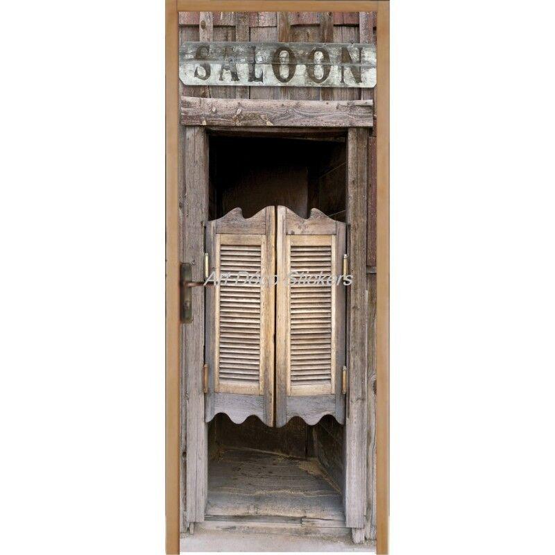Cartel Póster de Puerta Trampantojo Saloon 203 Arte Decoración Pegatinas