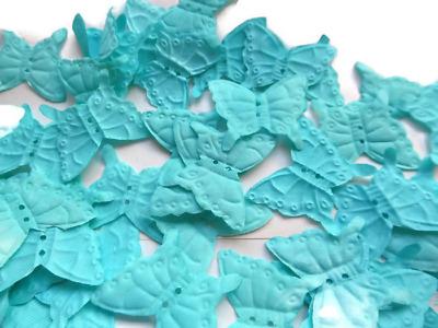 100  turquoise BUTTERFLY SILK ROSE PETALS//CONFETTI//TABLE DECOR//CONFETTI//wedding