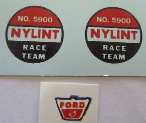 Replacement water slide decal set for Nylint Ford Sales /& Sevice truck