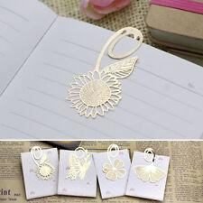 3Pcs Exquisite Mini Metal Bookmarks Japan Korean Stationery Creative Gold Award
