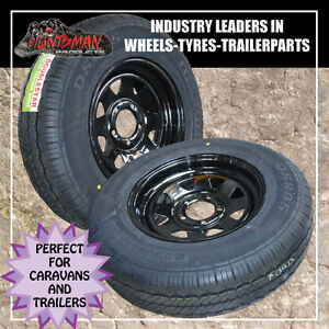 14-FORD-black-sunraysia-style-wheel-195R14L-T-tyre-caravan-camper-trailer