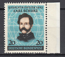 BRD 1952 Mi. Nr. 155 Postfrisch mit Rand TOP!!! (21523)
