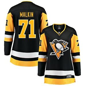 NHL-Evgeni-Malkin-71-Fanatics-Branded-Home-Jersey-For-Women-Size-M
