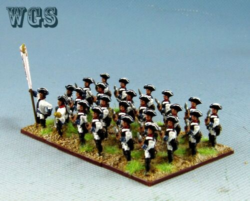 15mm SYW Seven Years War WGS Painted Austrian Musketeer Battalion AA16