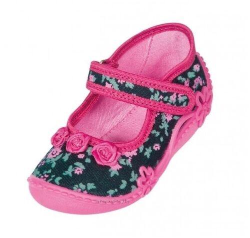BABY ragazze Tela Scarpe Da Passeggio Scarpe-SANDALI UK Taglia 3-9 UE da 20 a 27 respirazione