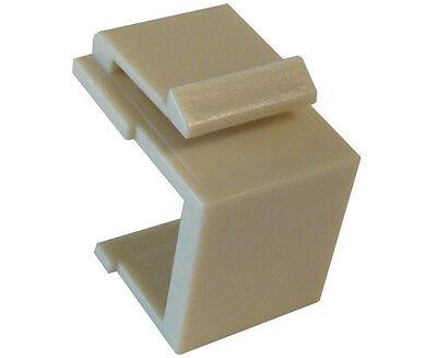 #IN1-222//Z//AL 25 Pack Blank Keystone Jack Insert Almond