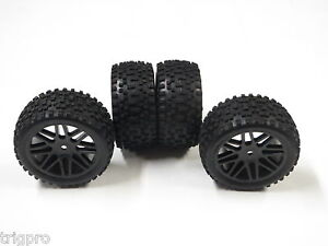 4x-Mounted-Off-Road-Wheel-Tires-for-Traxxas-1-16-e-Revo-MERV-SHIPS-FROM-USA-12mm