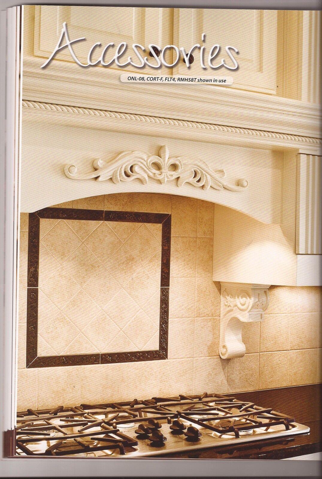 20 Inch- Hand Carved Wood Fleur de Lis Onlay-20  x 7 8  x 4-3 16  - ONL-08-20