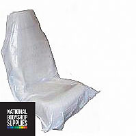 100 x DISPOSABLE PLASTIC CAR SEAT COVERS VEHICLE PROTECTORS MECHANIC VALET ROLL