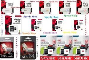 MICRO-SD-8-GB-16-GB-32-GB-64-128-GB-CLASSE-10-MICROSD-SCHEDA-USB-PENDRIVE