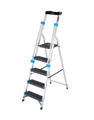 Professional Platform Step Ladder with Twin Handrail & Tool Tray EN131 Aluminium