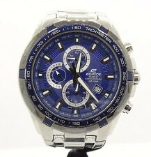 casio edifice EF-539 5118 Blue Face Chronograph 100m Date #8788