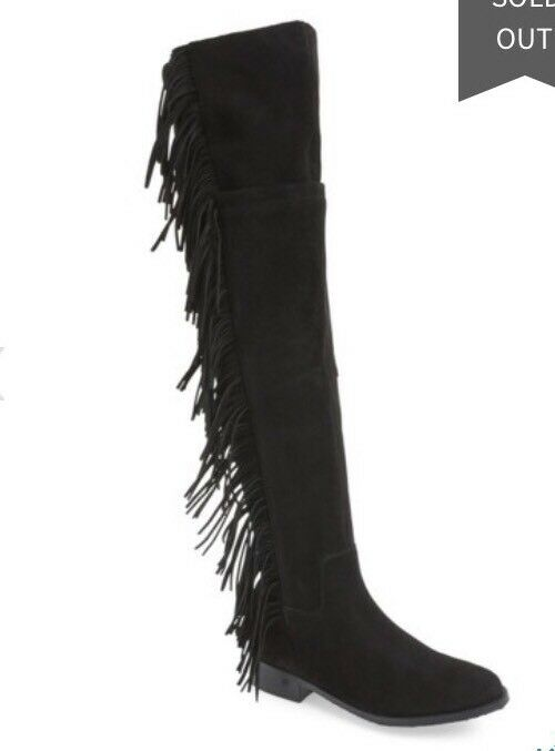 Steve Madden Wowwzer Over-the-Knee avvio nero Suede Dimensione 7.5  6,  16