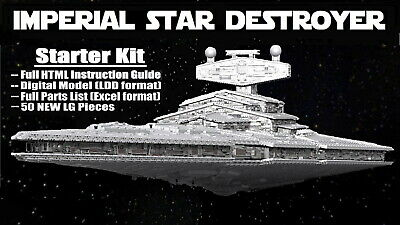 7-ft-long LEGO-comp Star Wars Mon Calamari Cruiser 22,000-pc STARTER KIT ONLY
