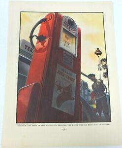 Texaco Vintage Ad Art Print Gasoline Wayne Pump Fire Chief Steven Dobanos