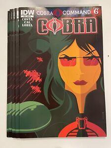 IDW COBRA #10 RI COVER : 5-COPY LOT : NM CONDITION