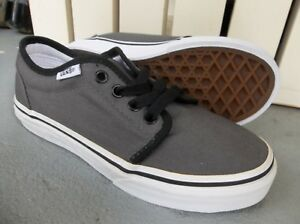 db333045a881 NWT VANS BOYS YOUTH 106 VULCANIZED SNEAKERS SHOES SIZE 13.PEWTER ...